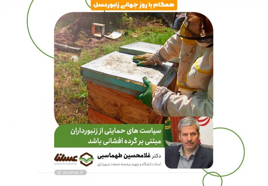 دکتر غلامحسین طهماسبی در گفتگو با عسلنا بیان کرد