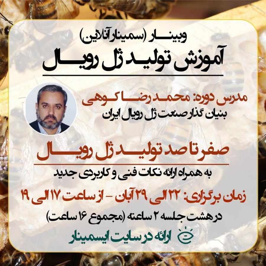 محمدرضا کوهی تولید ژل رویال