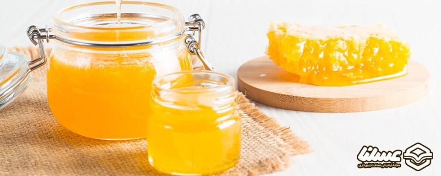عسل برای گلودرد