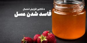 5 دلیل برای افزایش احتمال فاسد شدن عسل طبیعی
